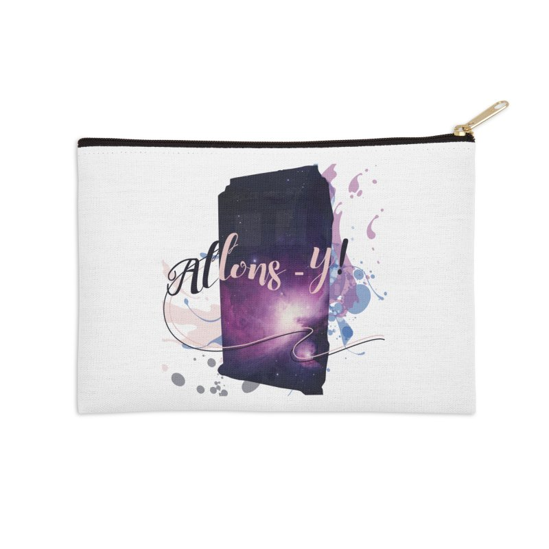 TARDIS' Allons-y! Accessories Zip Pouch by rouages's Artist Shop