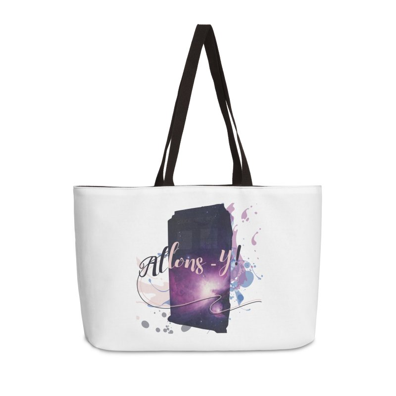TARDIS' Allons-y! Accessories Weekender Bag Bag by rouages's Artist Shop