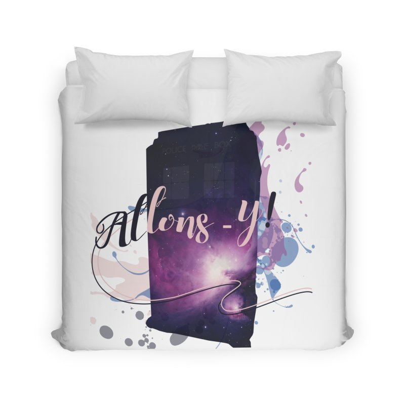 TARDIS' Allons-y! Home Duvet by rouages's Artist Shop