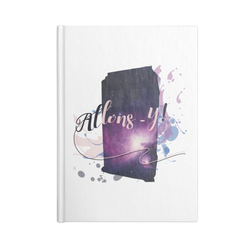 TARDIS' Allons-y! Accessories Lined Journal Notebook by rouages's Artist Shop