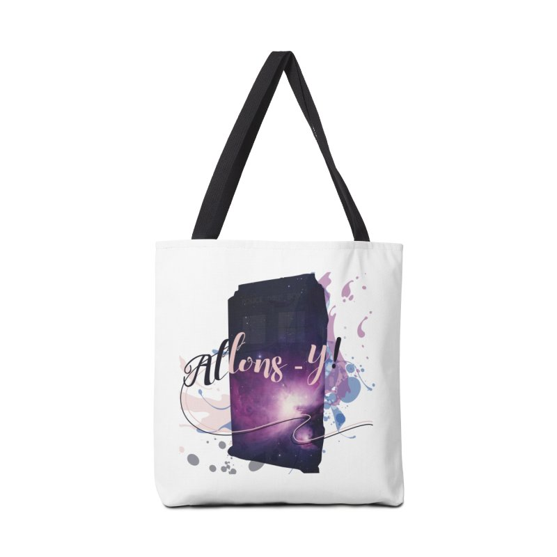 TARDIS' Allons-y! Accessories Tote Bag Bag by rouages's Artist Shop