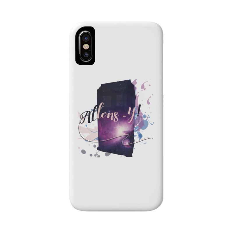 TARDIS' Allons-y! Accessories Phone Case by rouages's Artist Shop