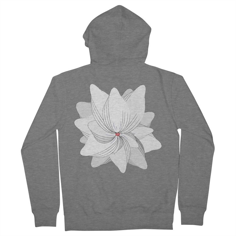 The Flower of my Heart Women's French Terry Zip-Up Hoody by rouages's Artist Shop