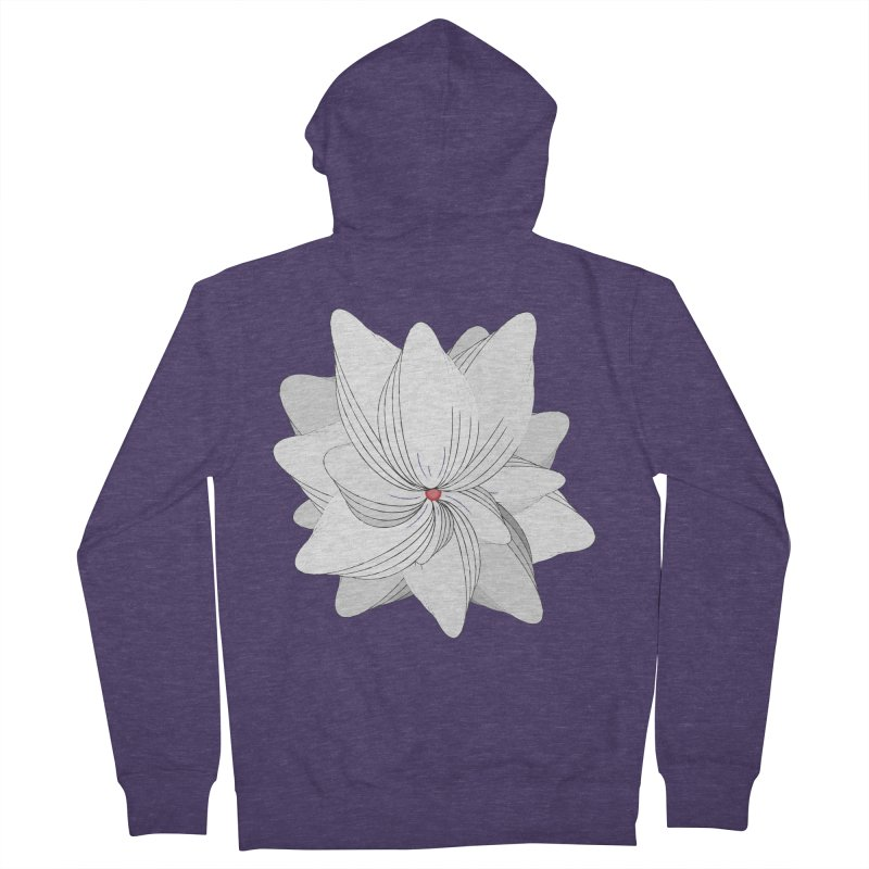 The Flower of my Heart Men's French Terry Zip-Up Hoody by rouages's Artist Shop