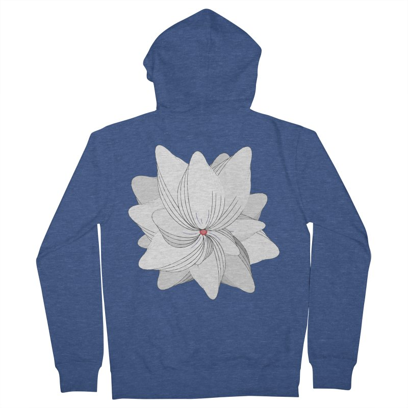 The Flower of my Heart Men's Zip-Up Hoody by rouages's Artist Shop