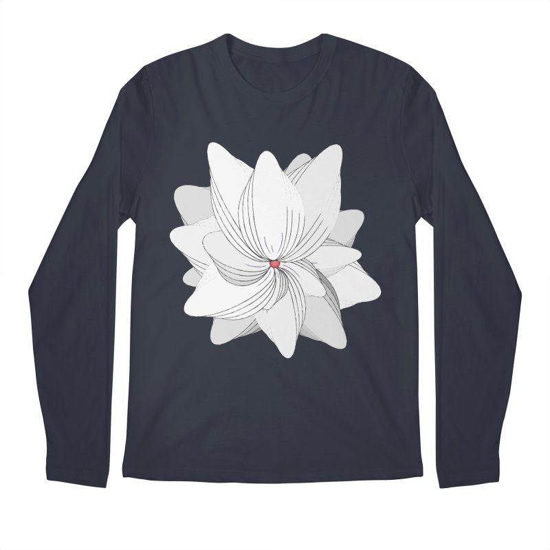 The Flower of my Heart Men's Longsleeve T-Shirt by rouages's Artist Shop