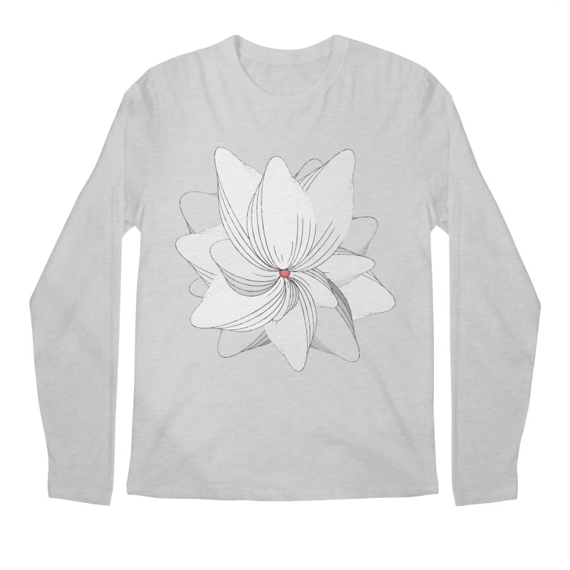 The Flower of my Heart Men's Regular Longsleeve T-Shirt by rouages's Artist Shop