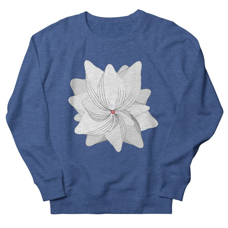 The Flower of my Heart Women's French Terry Sweatshirt by rouages's Artist Shop