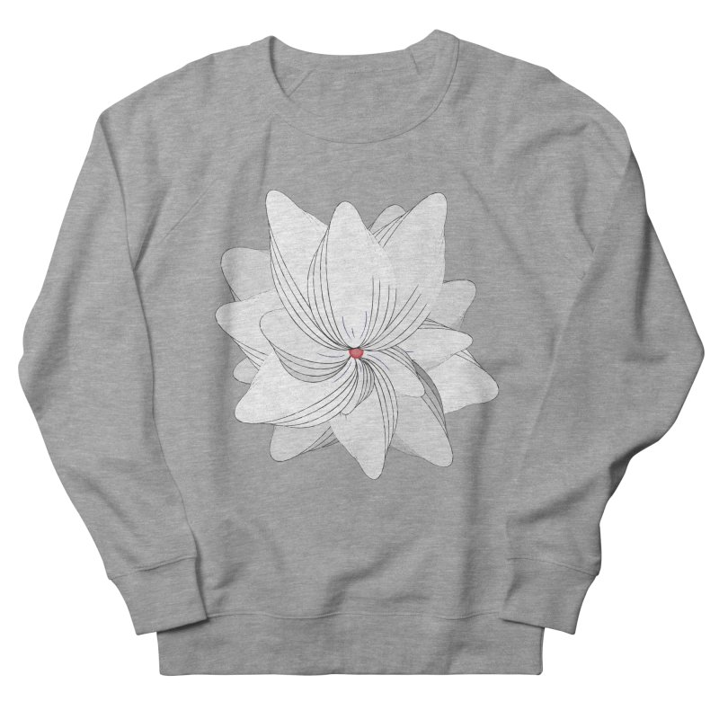 The Flower of my Heart Men's French Terry Sweatshirt by rouages's Artist Shop