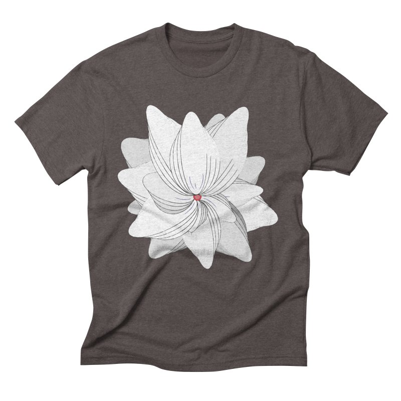 The Flower of my Heart Men's Triblend T-Shirt by rouages's Artist Shop