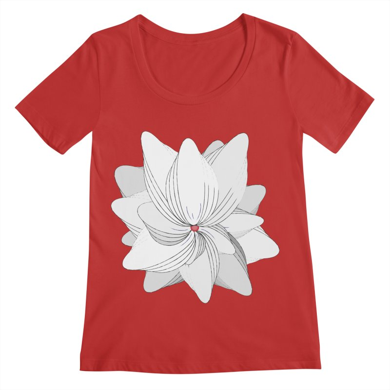 The Flower of my Heart Women's Regular Scoop Neck by rouages's Artist Shop