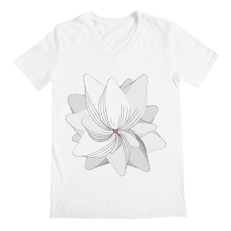 The Flower of my Heart Men's Regular V-Neck by rouages's Artist Shop