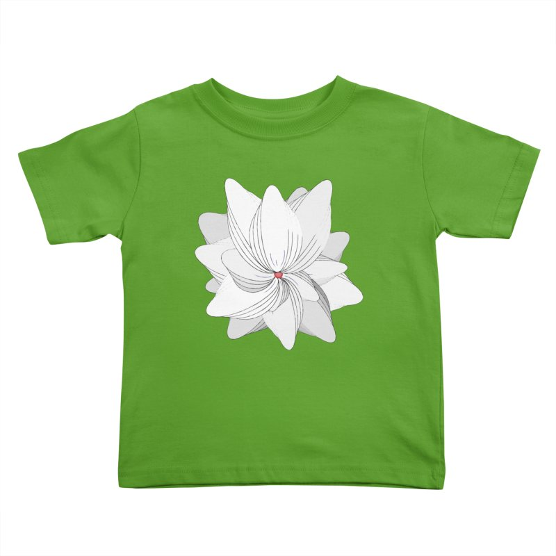 The Flower of my Heart Kids Toddler T-Shirt by rouages's Artist Shop