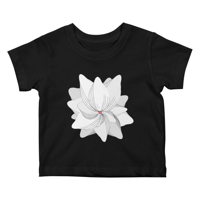 The Flower of my Heart Kids Baby T-Shirt by rouages's Artist Shop