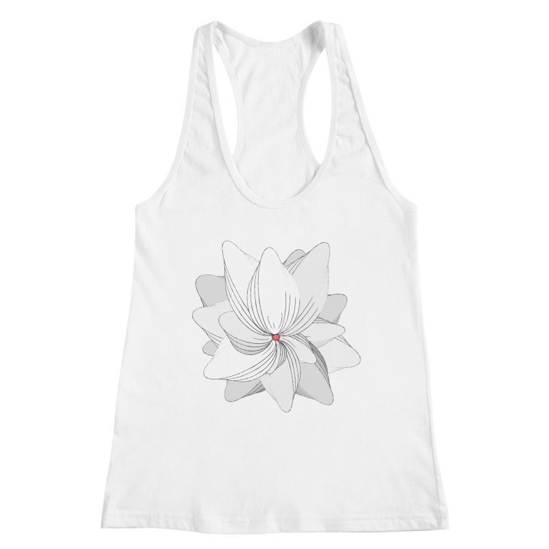 The Flower of my Heart Women's Racerback Tank by rouages's Artist Shop