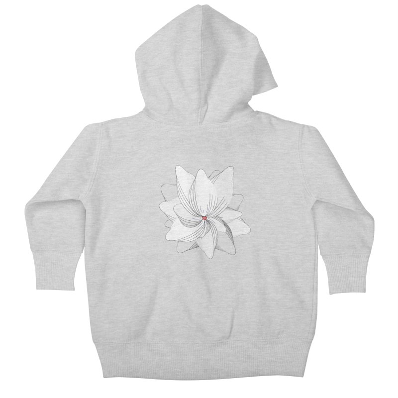 The Flower of my Heart Kids Baby Zip-Up Hoody by rouages's Artist Shop