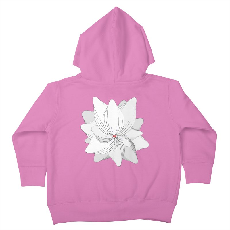 The Flower of my Heart Kids Toddler Zip-Up Hoody by rouages's Artist Shop