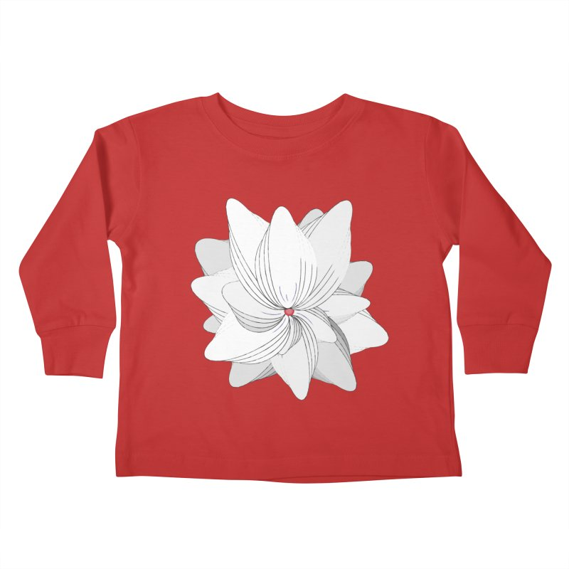 The Flower of my Heart Kids Toddler Longsleeve T-Shirt by rouages's Artist Shop