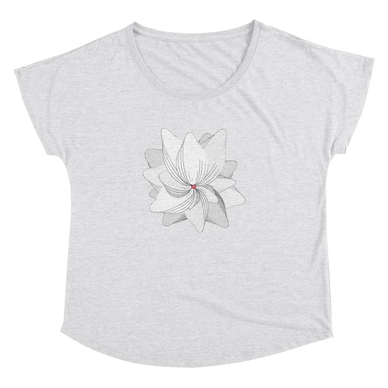 The Flower of my Heart Women's Dolman Scoop Neck by rouages's Artist Shop