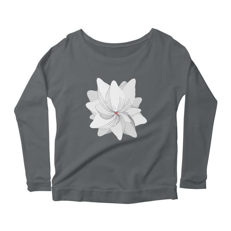 The Flower of my Heart Women's Scoop Neck Longsleeve T-Shirt by rouages's Artist Shop