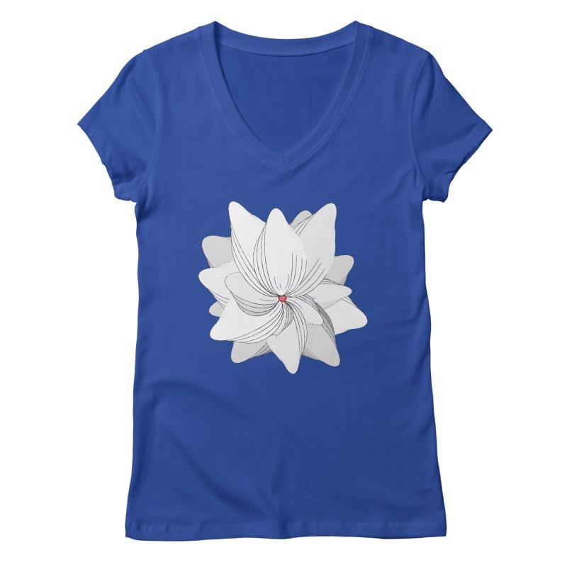 The Flower of my Heart Women's Regular V-Neck by rouages's Artist Shop
