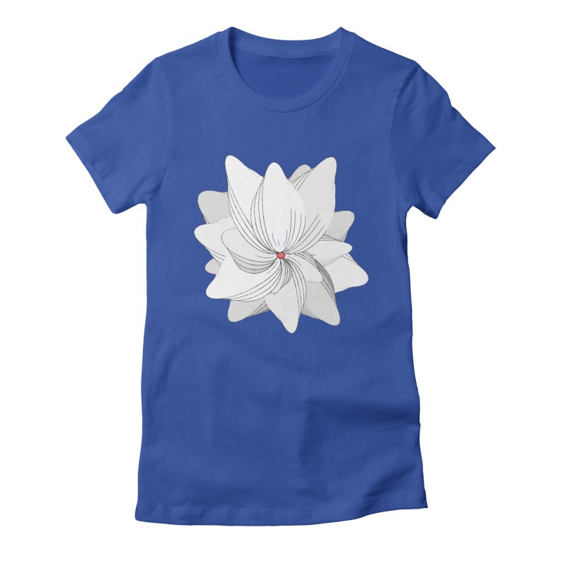The Flower of my Heart Women's Fitted T-Shirt by rouages's Artist Shop