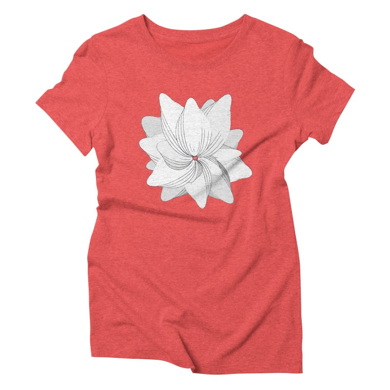 The Flower of my Heart Women's Triblend T-Shirt by rouages's Artist Shop