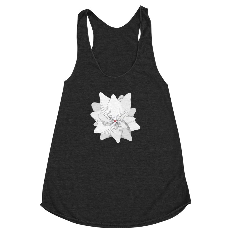 The Flower of my Heart Women's Racerback Triblend Tank by rouages's Artist Shop