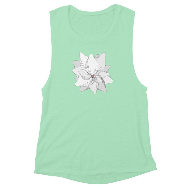 The Flower of my Heart Women's Muscle Tank by rouages's Artist Shop