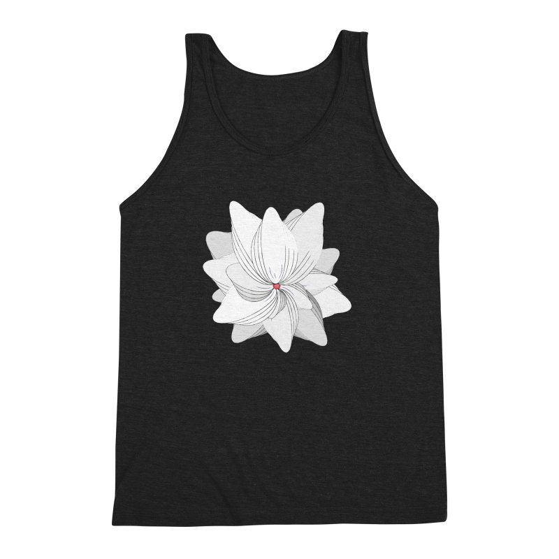 The Flower of my Heart Men's Triblend Tank by rouages's Artist Shop
