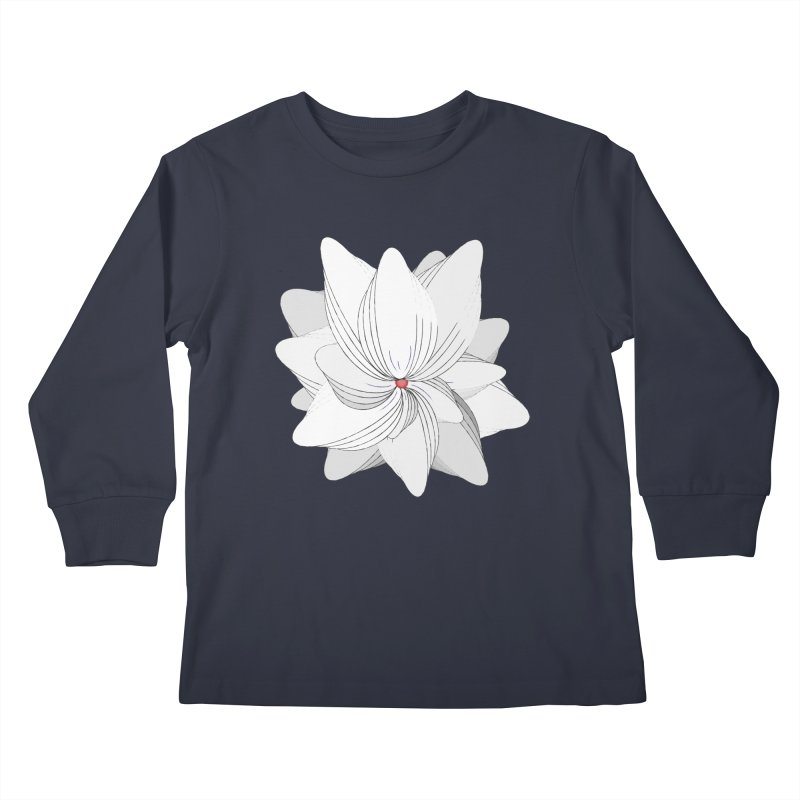 The Flower of my Heart Kids Longsleeve T-Shirt by rouages's Artist Shop