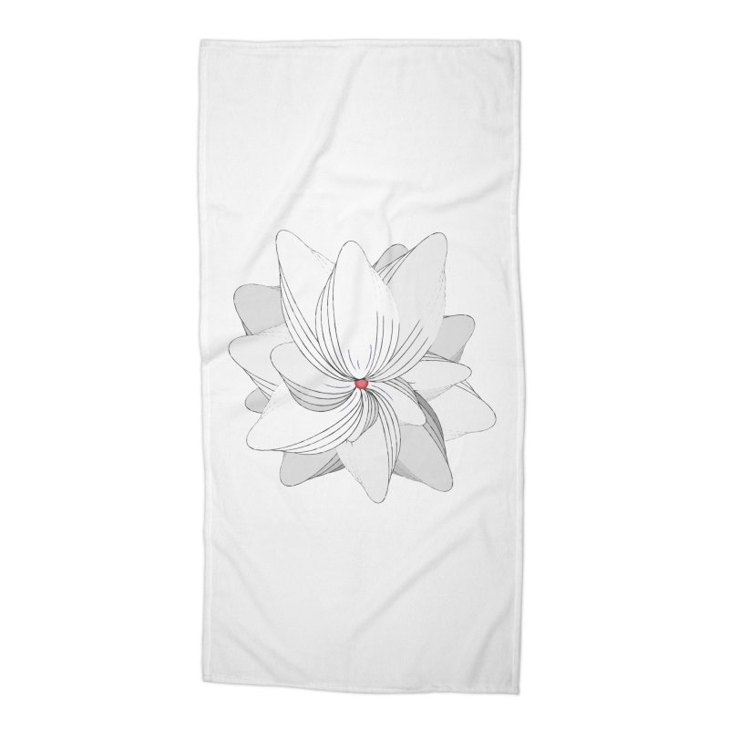 The Flower of my Heart Accessories Beach Towel by rouages's Artist Shop