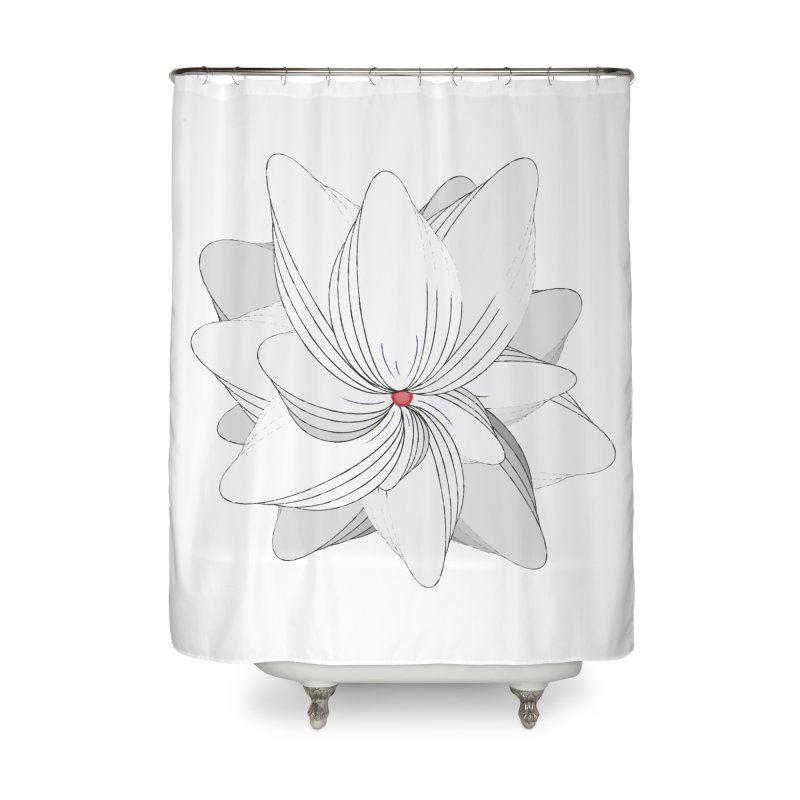 The Flower of my Heart Home Shower Curtain by rouages's Artist Shop