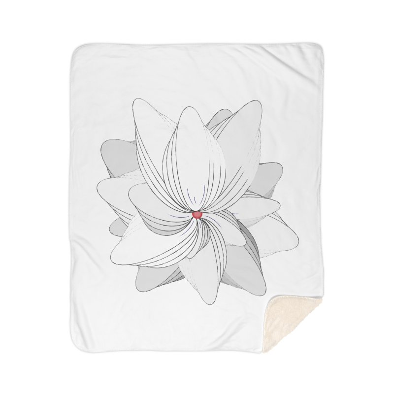 The Flower of my Heart Home Sherpa Blanket Blanket by rouages's Artist Shop