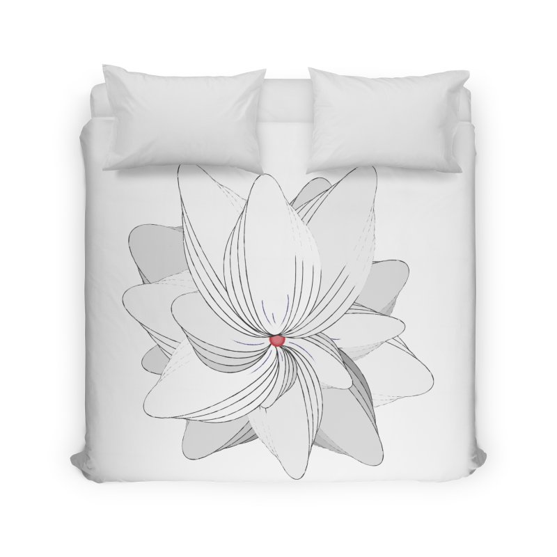 The Flower of my Heart Home Duvet by rouages's Artist Shop