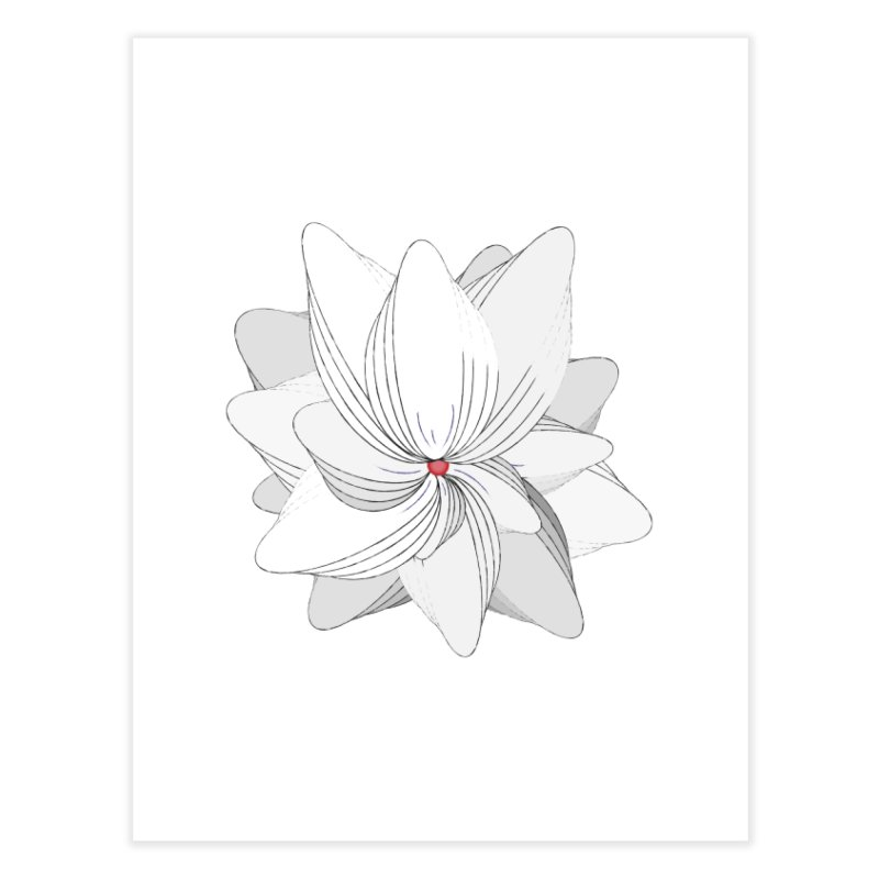 The Flower of my Heart Home Fine Art Print by rouages's Artist Shop