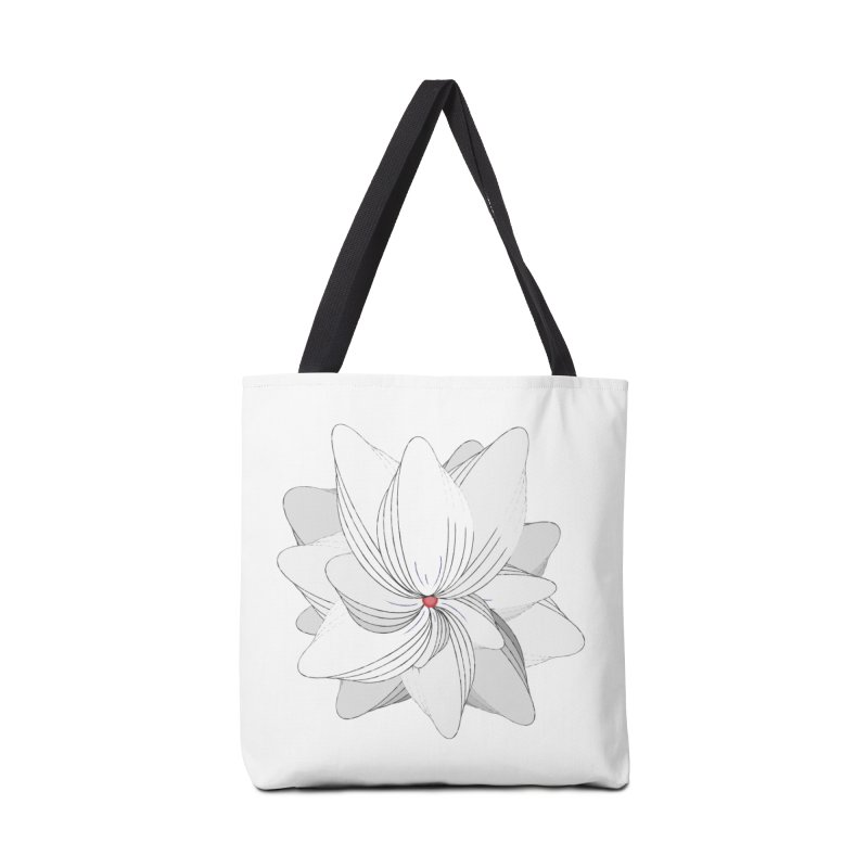 The Flower of my Heart Accessories Tote Bag Bag by rouages's Artist Shop
