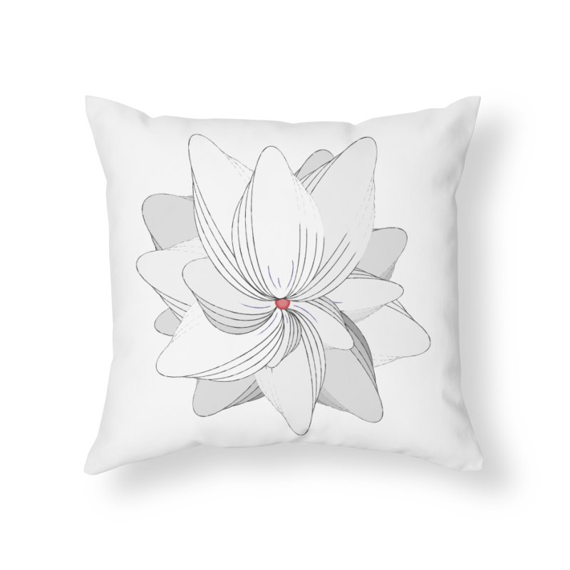 The Flower of my Heart Home Throw Pillow by rouages's Artist Shop