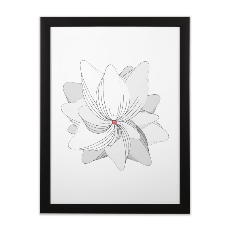 The Flower of my Heart Home Framed Fine Art Print by rouages's Artist Shop