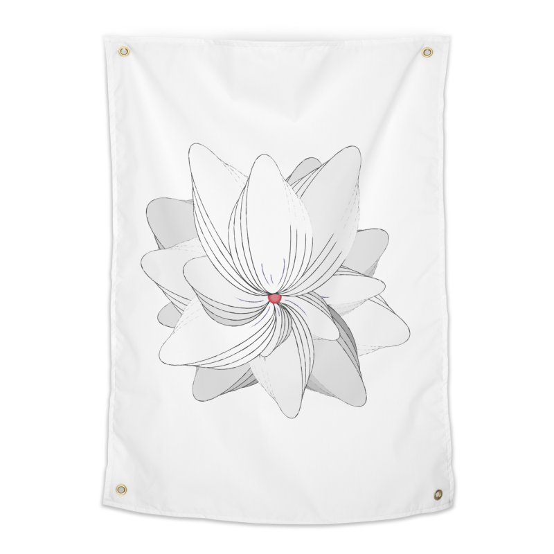 The Flower of my Heart Home Tapestry by rouages's Artist Shop