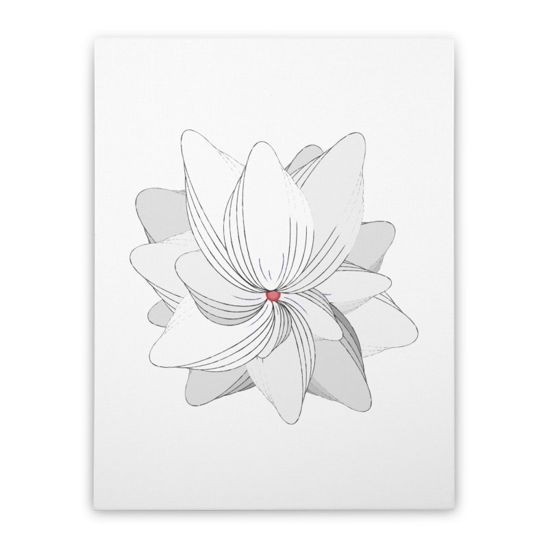 The Flower of my Heart Home Stretched Canvas by rouages's Artist Shop