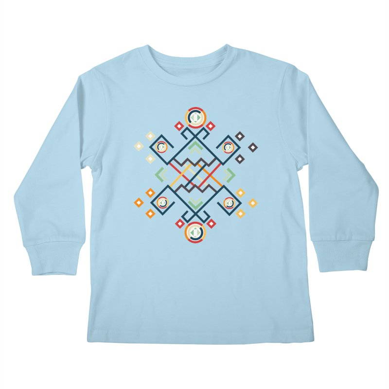 Back to the Roots Kids Longsleeve T-Shirt by rouages's Artist Shop