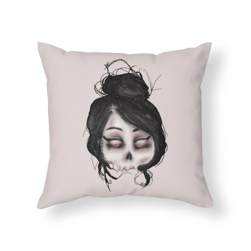The inability to perceive with eyes notebook II Home Throw Pillow by roublerust's Artist Shop