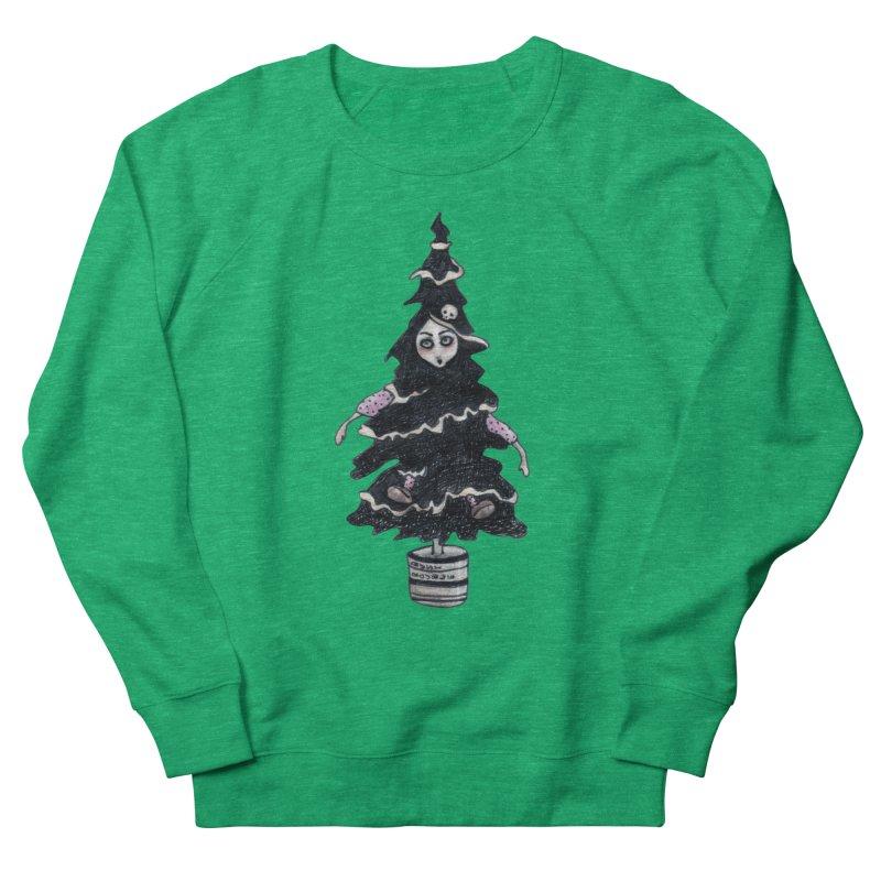 Black Xmas Tree Women's Sweatshirt by roublerust's Artist Shop