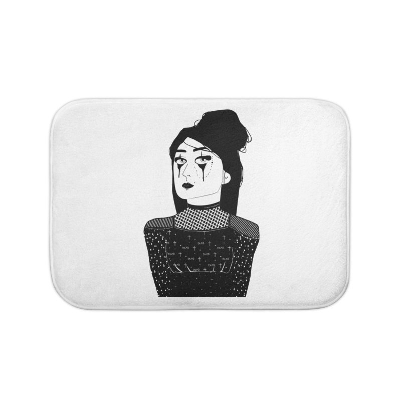 And all I loved, I loved alone. Home Bath Mat by roublerust's Artist Shop
