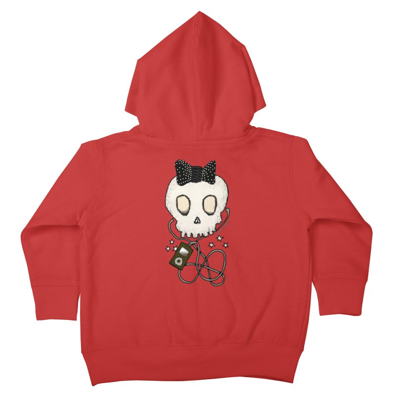 Girly Skull with Black Bow / Die for Music Kids Toddler Zip-Up Hoody by roublerust's Artist Shop