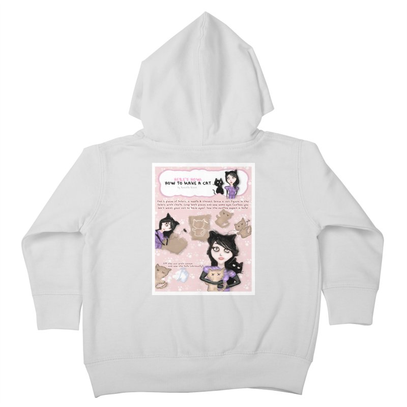 HOW TO MAKE A CAT Kids Toddler Zip-Up Hoody by roublerust's Artist Shop