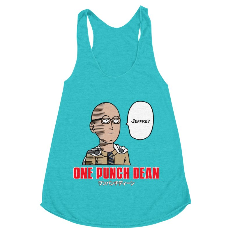 One Punch Dean  [Rx] Women's Racerback Triblend Tank by Roufxis Store