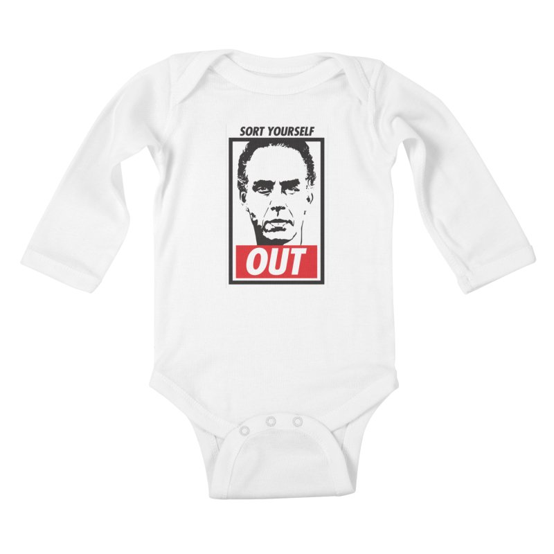 Sort Yourself Out Kids Baby Longsleeve Bodysuit by Shirts of Meaning