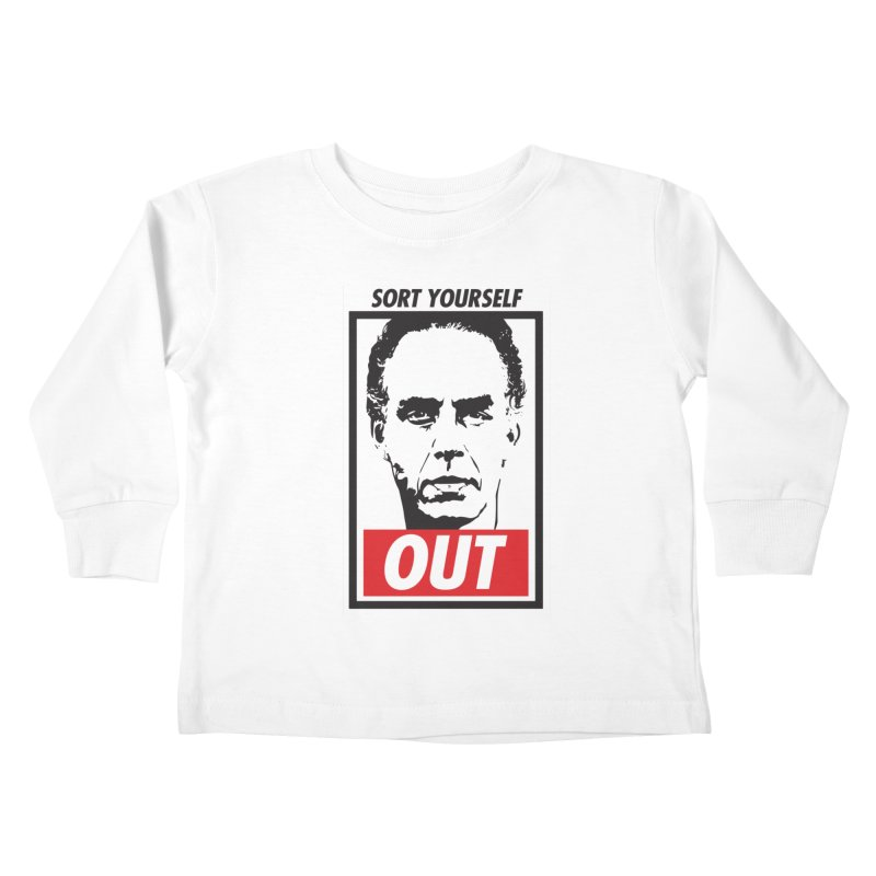 Sort Yourself Out Kids Toddler Longsleeve T-Shirt by Shirts of Meaning